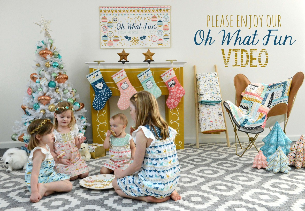 Oh What Fun Fabric Shoot and Video