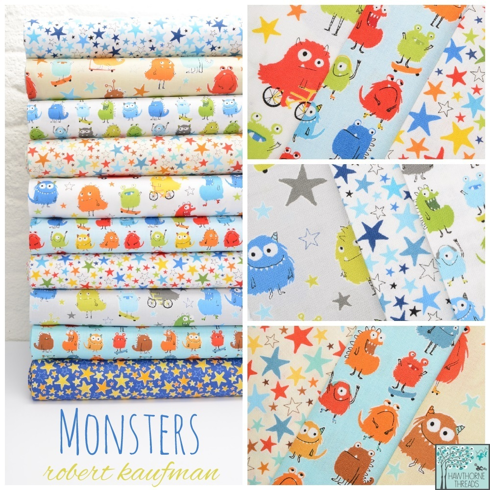 Monsters Fabric Poster