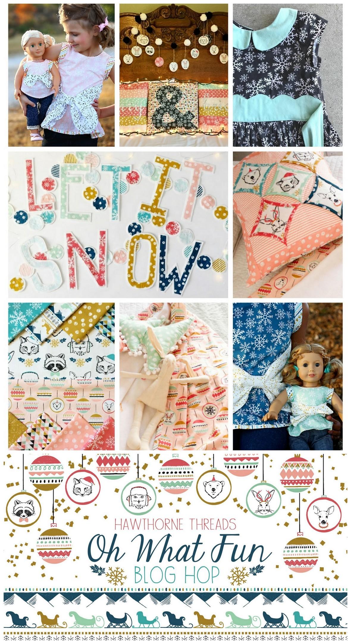 Hawthorne Threads Oh What Fun Fabric Blog Hop