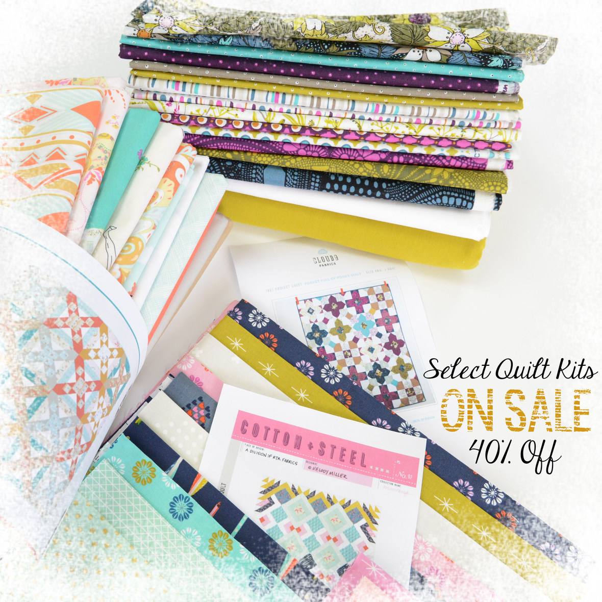 Quilt Kits On Sale with frosty border