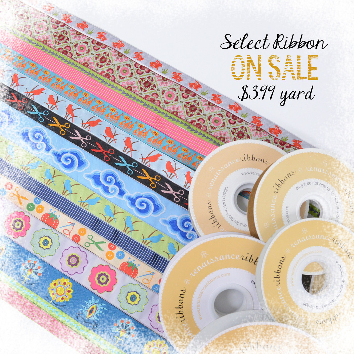 RIbbons On Sale with frosty border