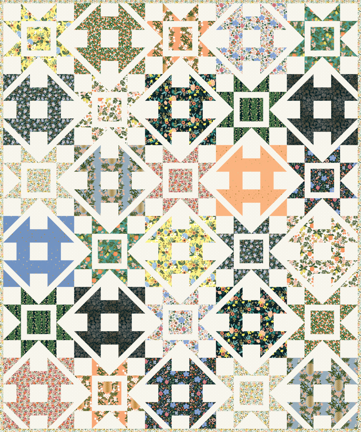 Copy of Dashing CorrianderQuilts 60x72 Primavera