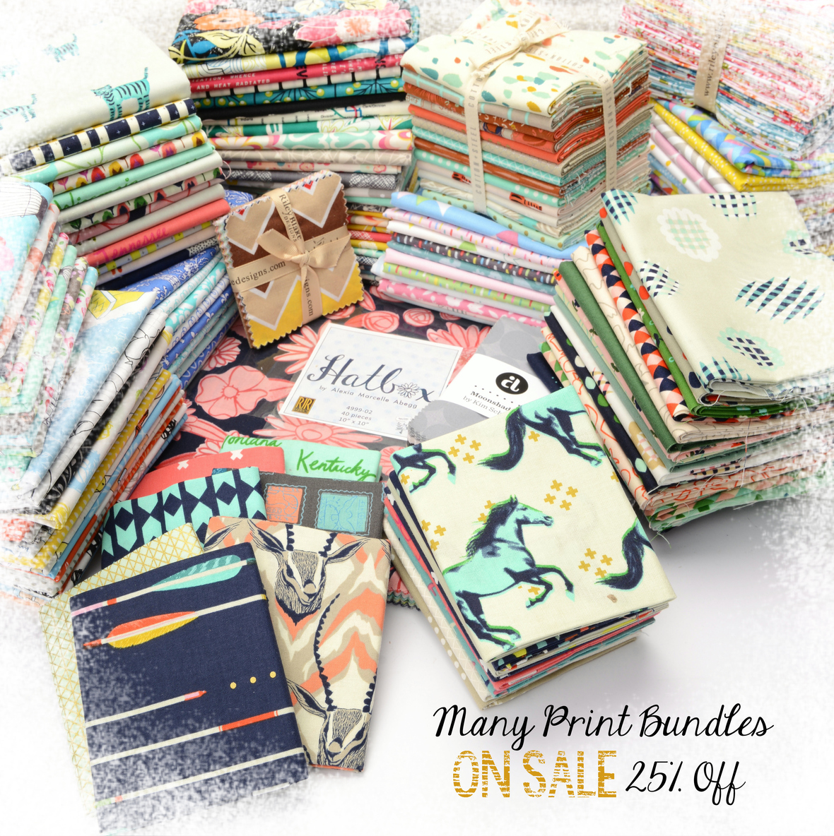 Precut Assortment on Sale with frosty border