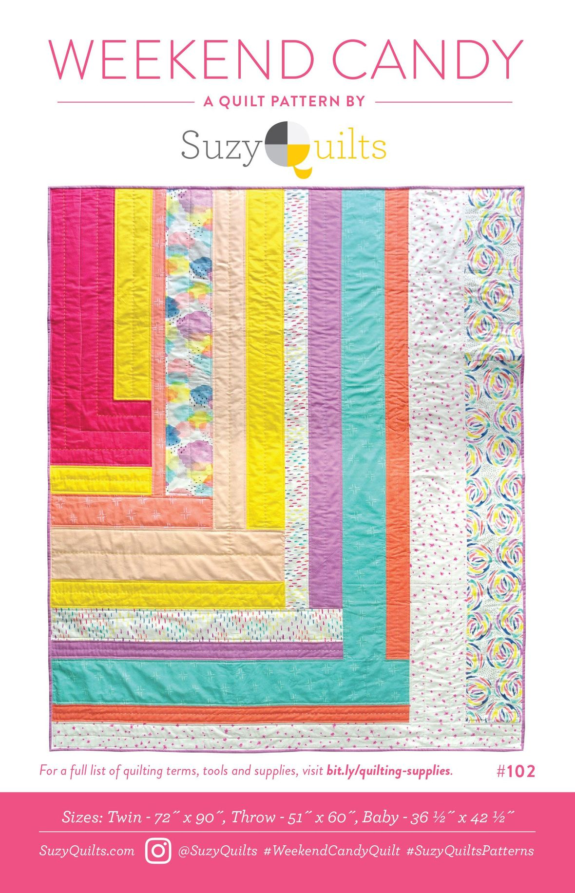 suzy quilts weekend candy sewing pattern