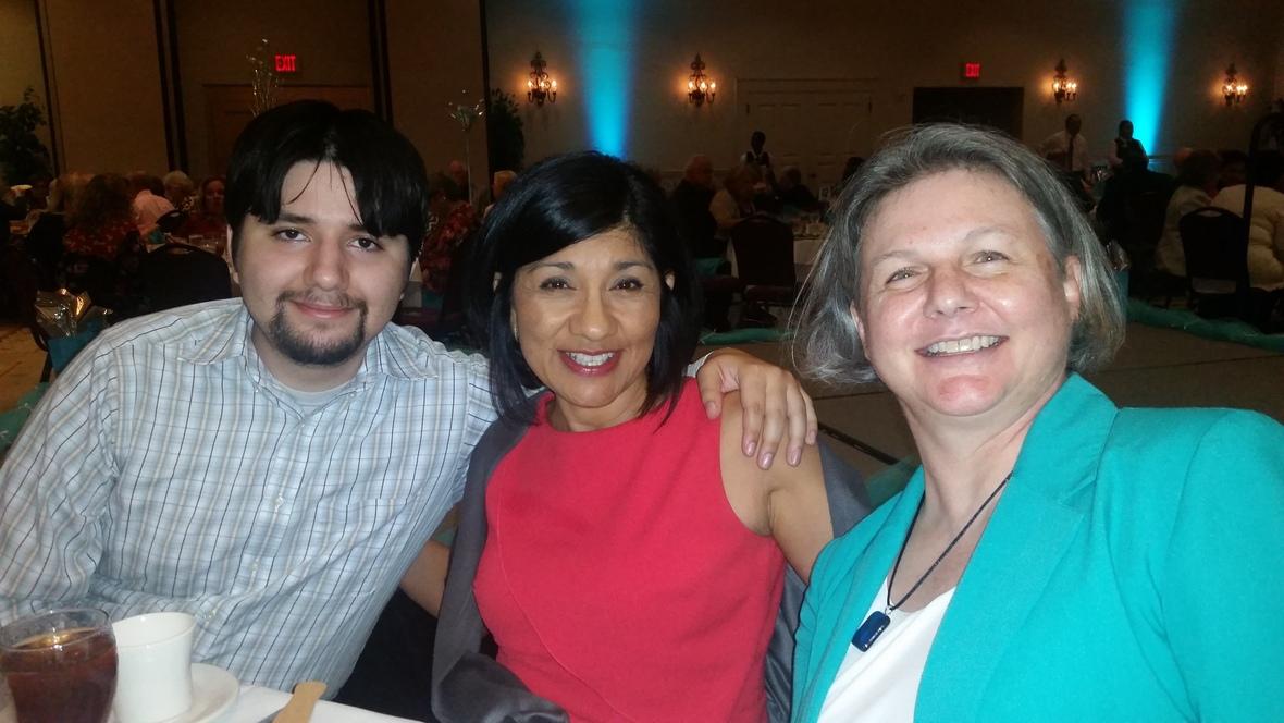 Aleida and son and Carol