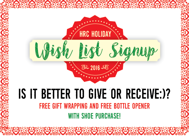 wish list signup newsletter