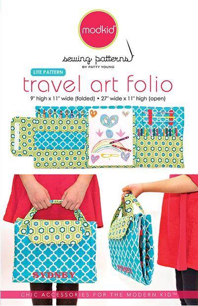 patty young travel art folio sewing pattern