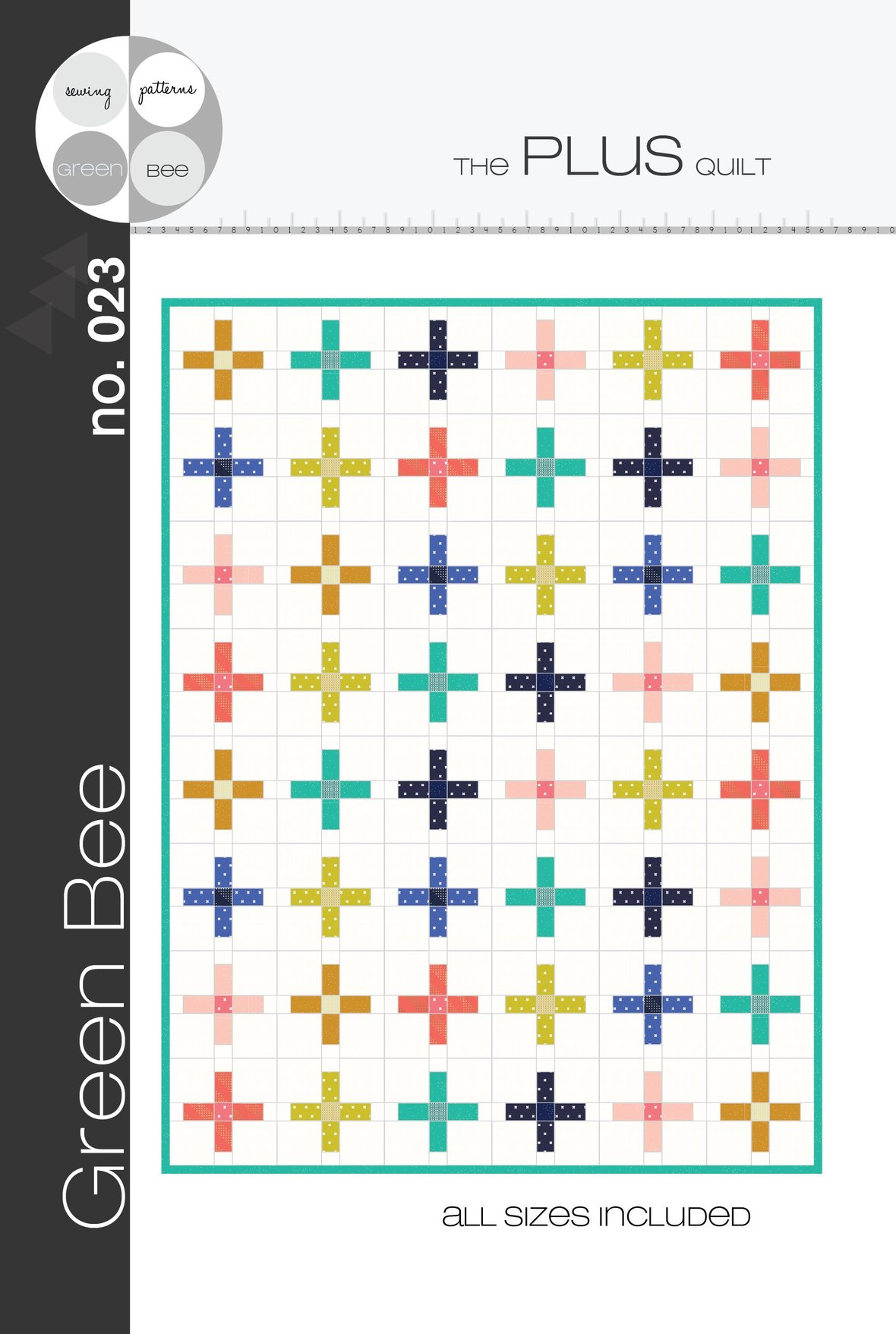 green bee design plus quilt sewing pattern