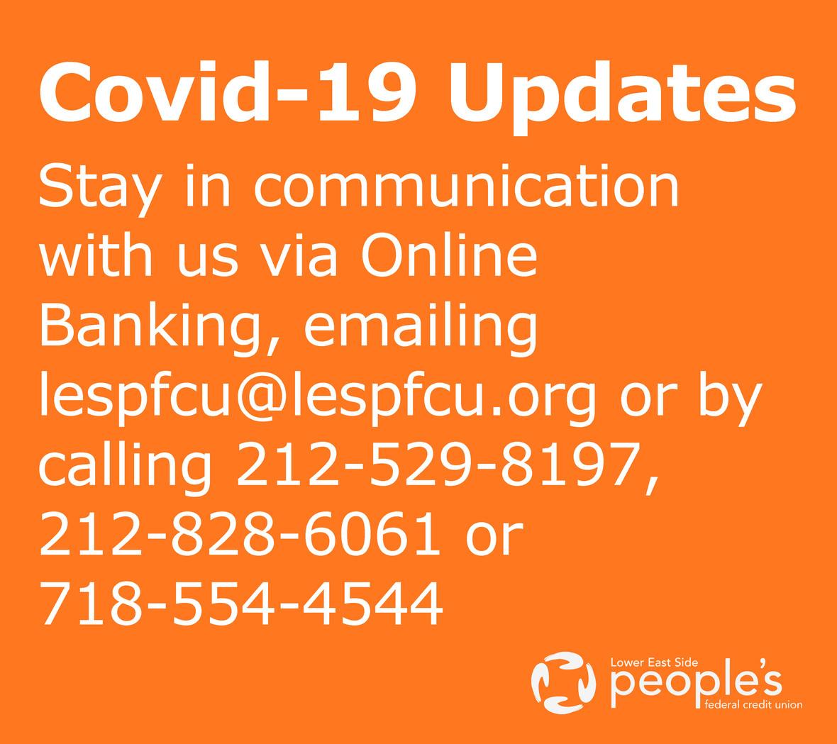 2020 COVID19 Updates
