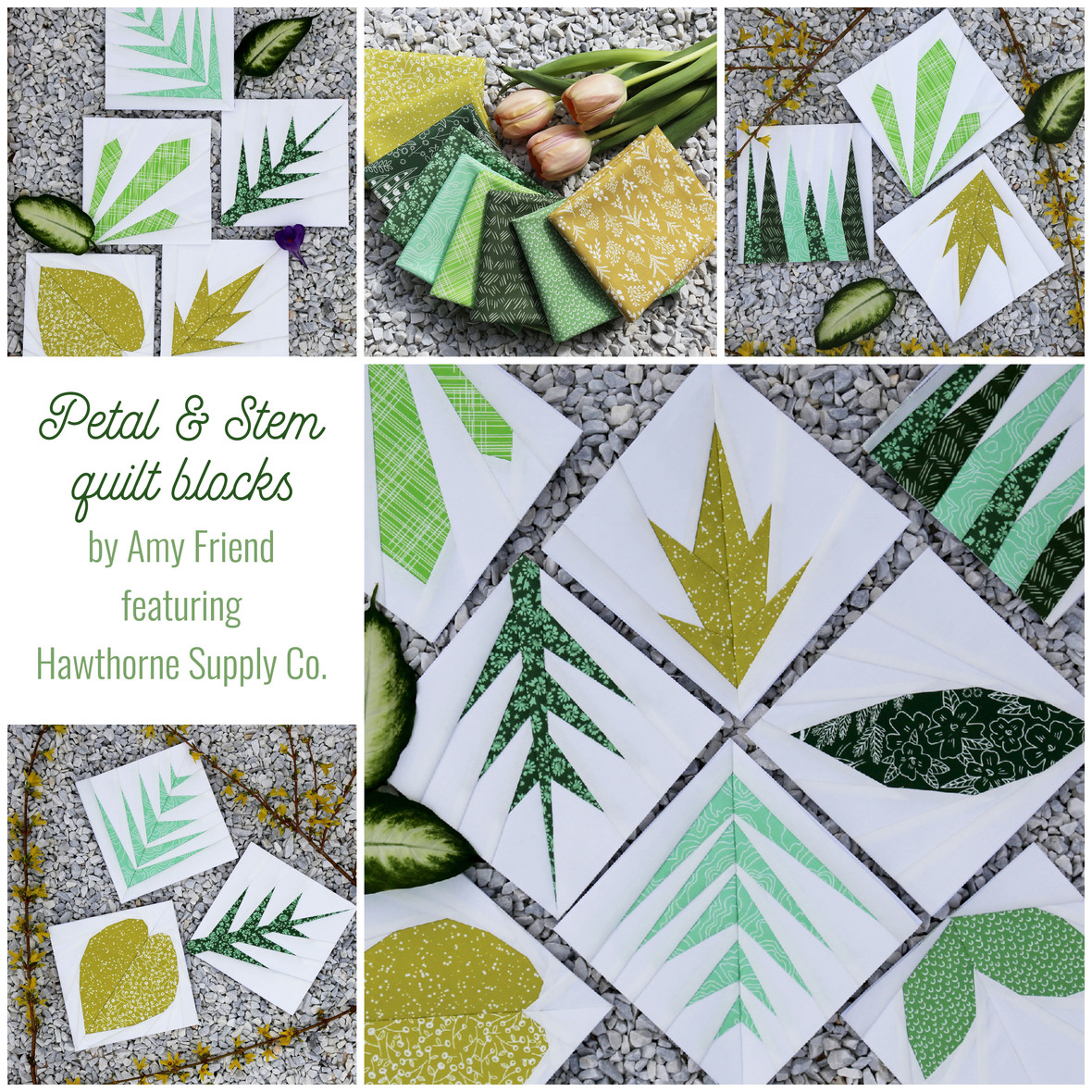 Petal and Stem Quilt Blocks from Amy Friend During Quiet Time