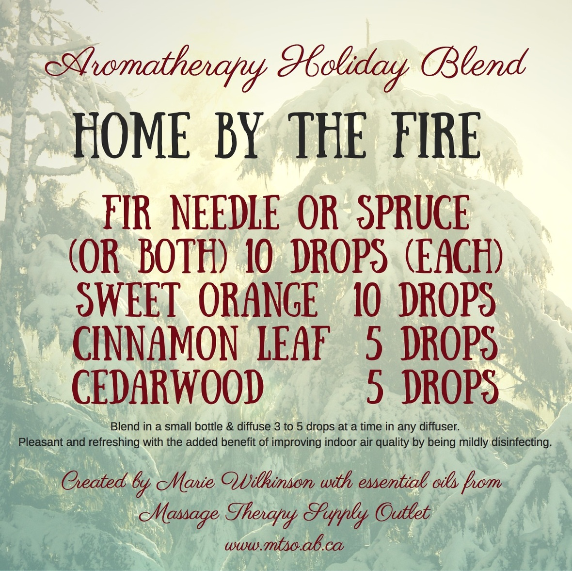 Home by the Fire - essential oils from MTSO