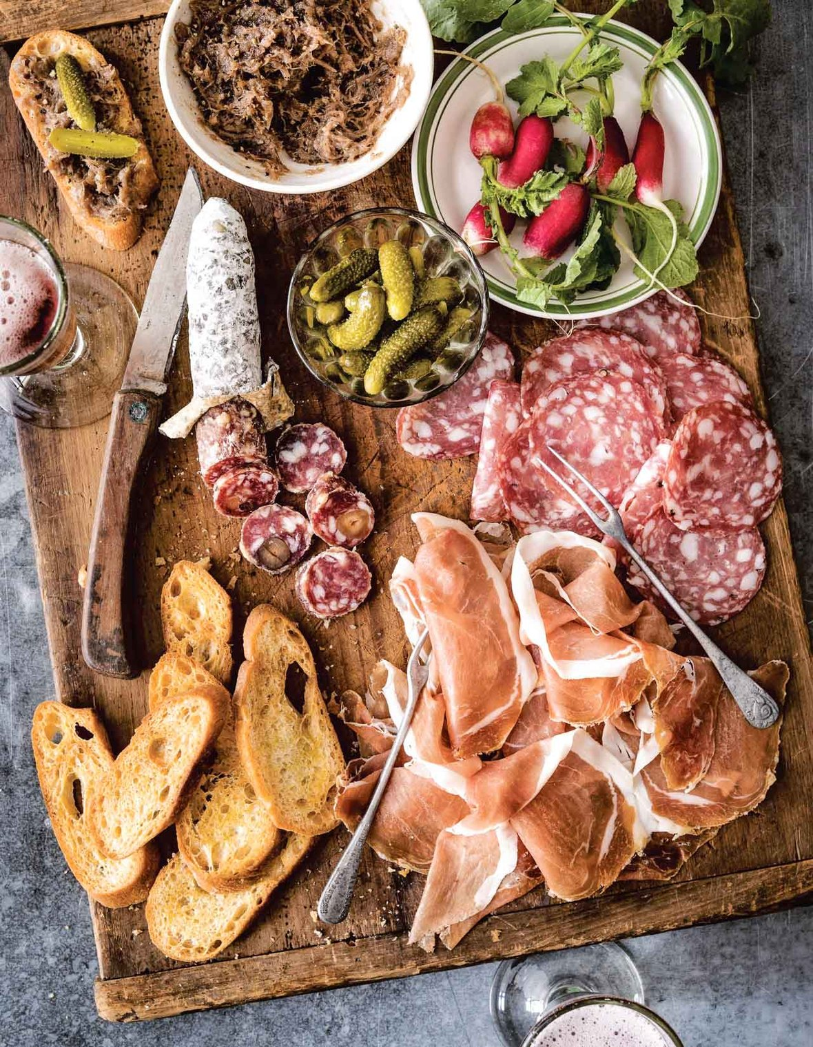 Drinking French charcuterie board