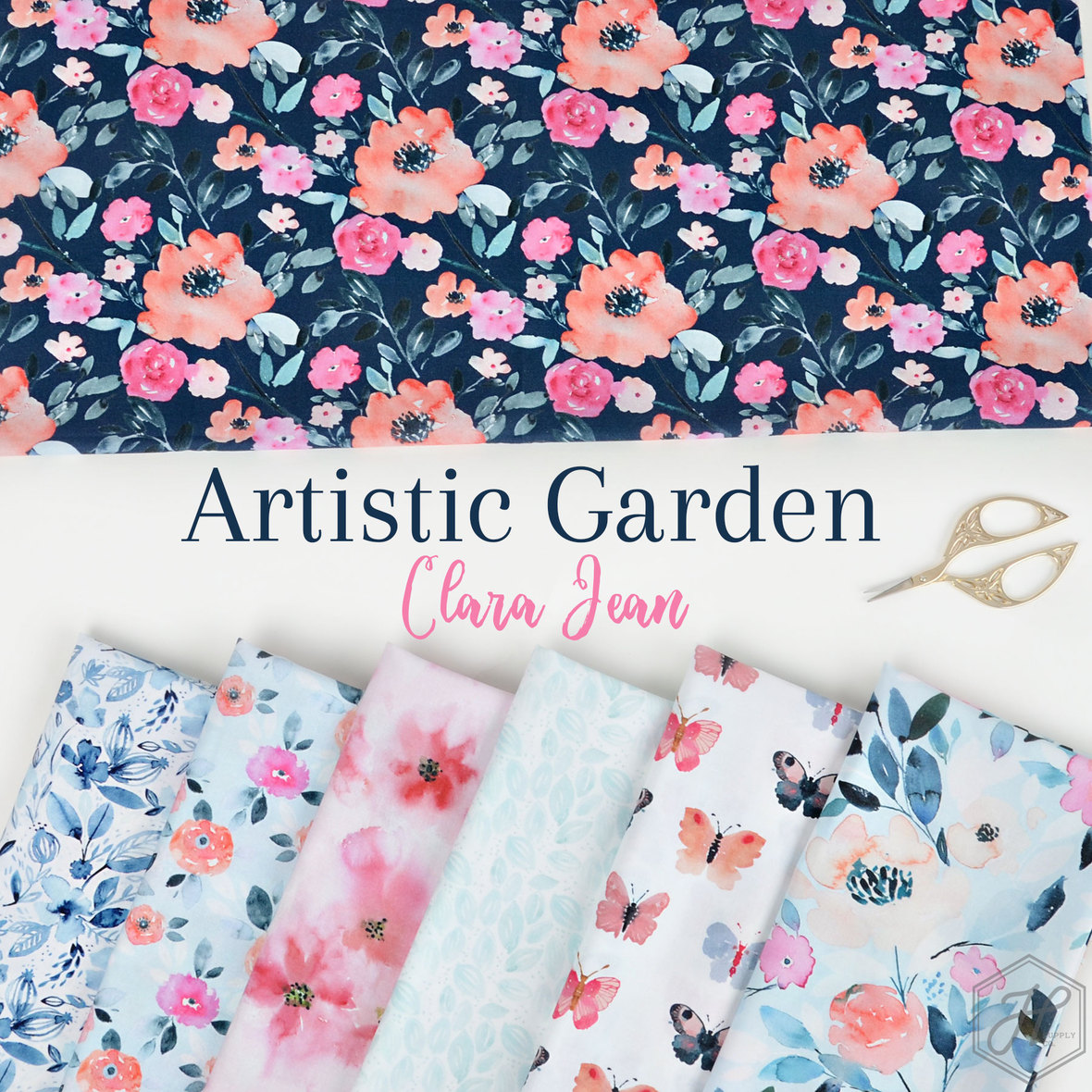 Artistic-Garden-Fabric-Poster-Clara-Jean-at-Hawthorne-Supply-Co