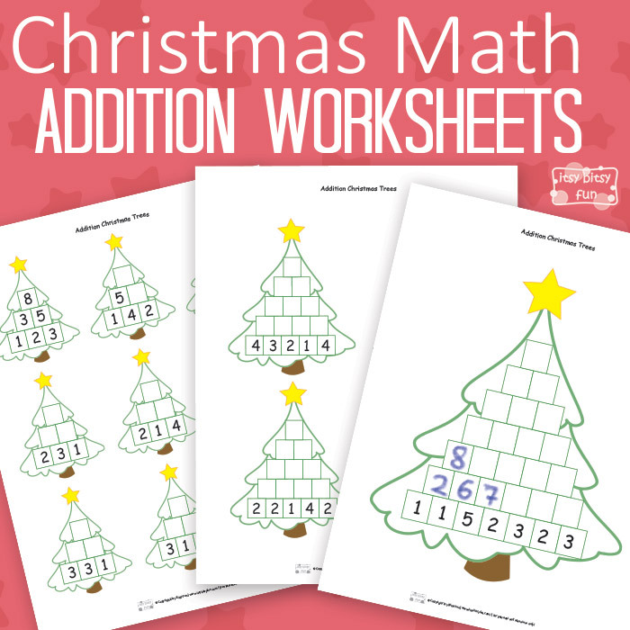 Christmas Math Pre Writing Tracing Printables Coloring Fun