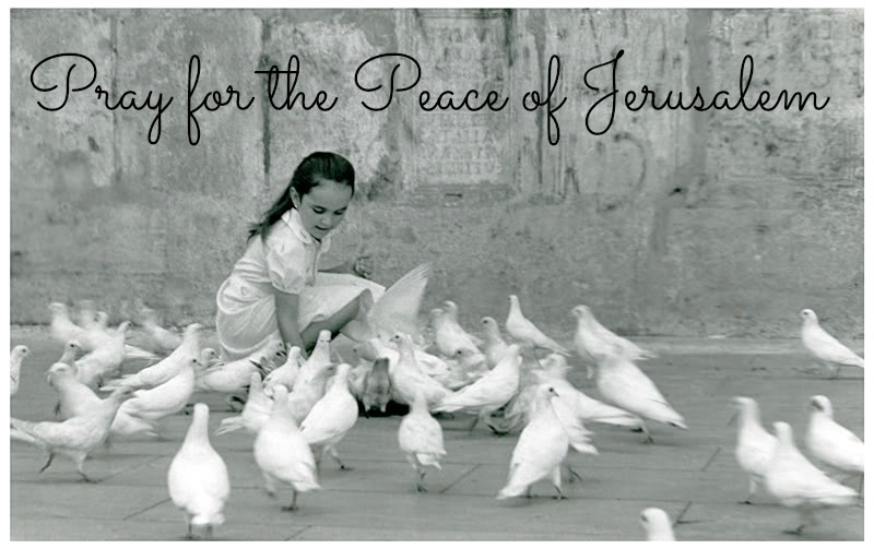 pray for peace Jerusalem girl doves