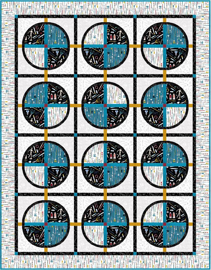 Free Art School Quilt Pattern