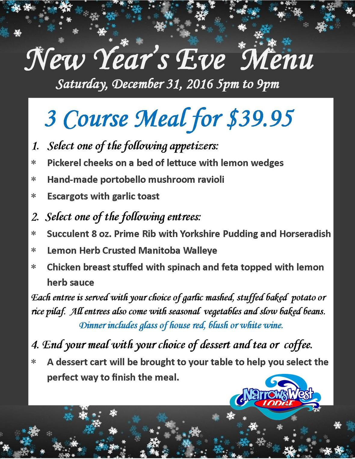 2016 New Year s Eve Menu