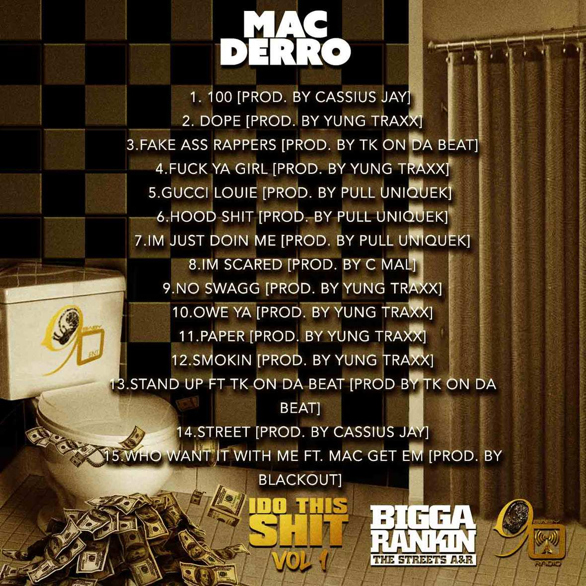 Mac Derro - Do This Shit Vol 1 Back Cover