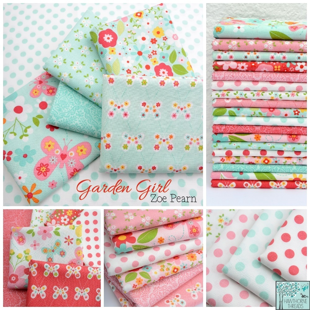 Garden Girl Fabric Poster