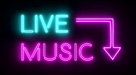Live-music neon sign
