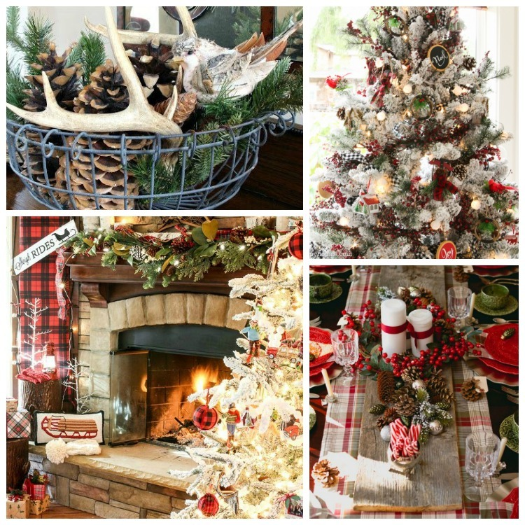 Christmas Style Series Rustic Christmas Cabin-Chic Christmas Decor