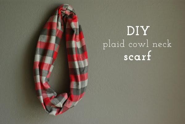 DIY-Plaid-Cowl-Neck-Scarf