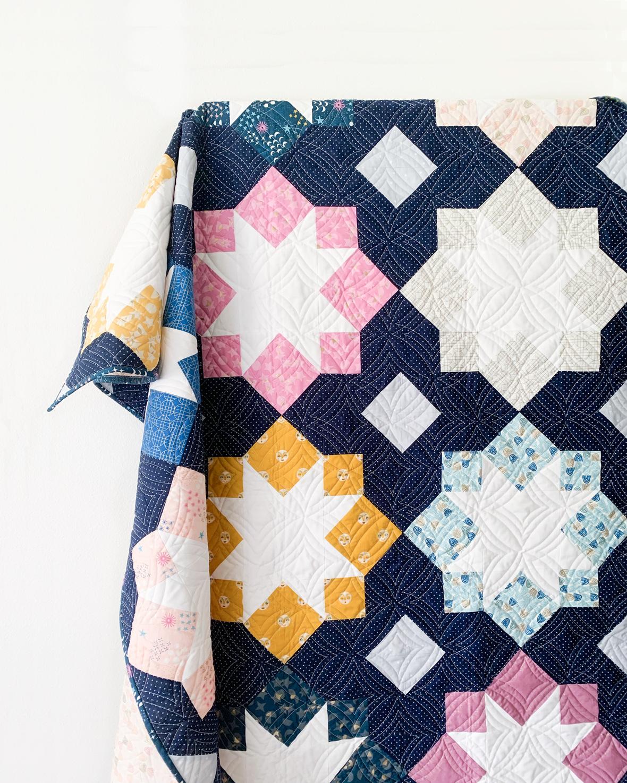 Cotton And Joy Stellar Mosaic quilt - FQ friendly 2