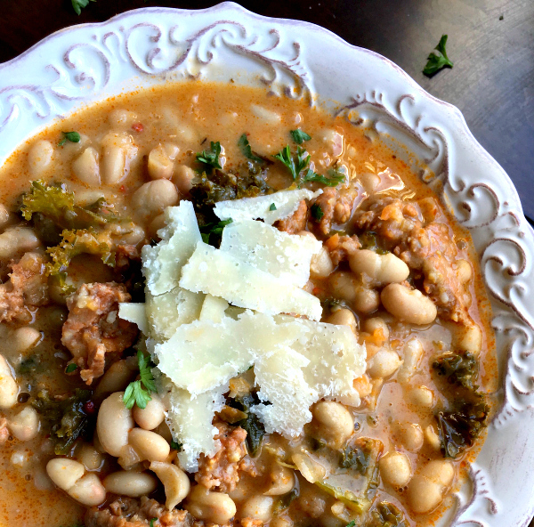 white-bean-soup-stew-sausage-one-skillet-pot-dinner-2