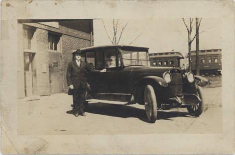 Richard Landmeier and His Car