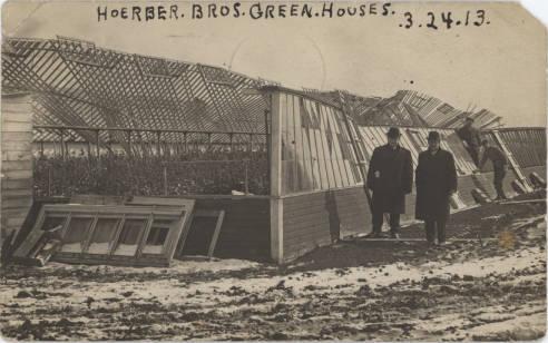 Damaged Hoerber Brothers Greenhouses