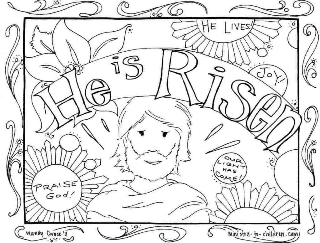 he-is-risen-coloring-page
