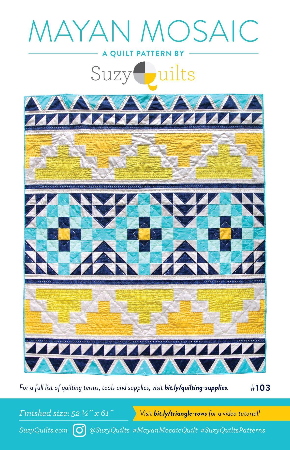 Mayan Mosiac Quilt front