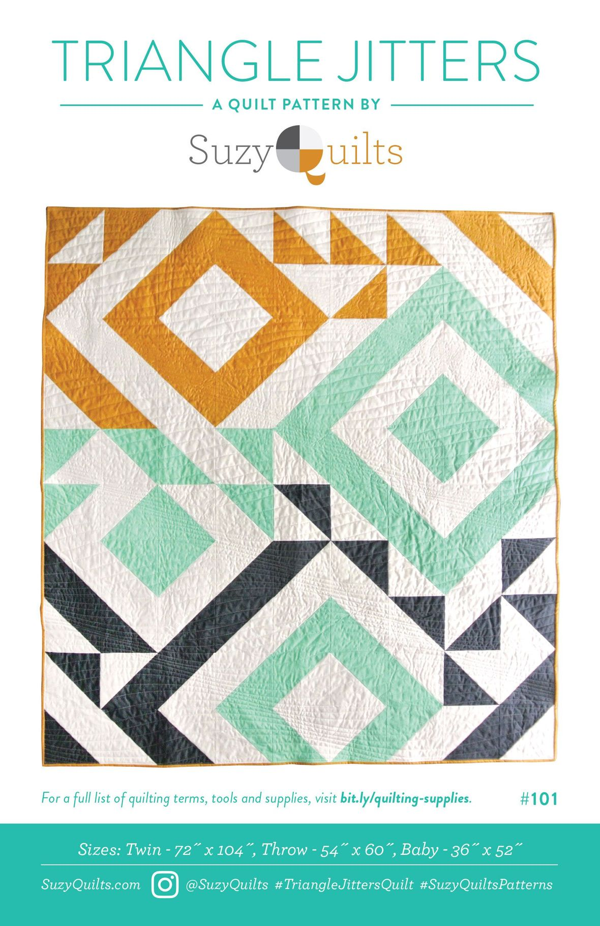 Triangle Jitters Quilt front