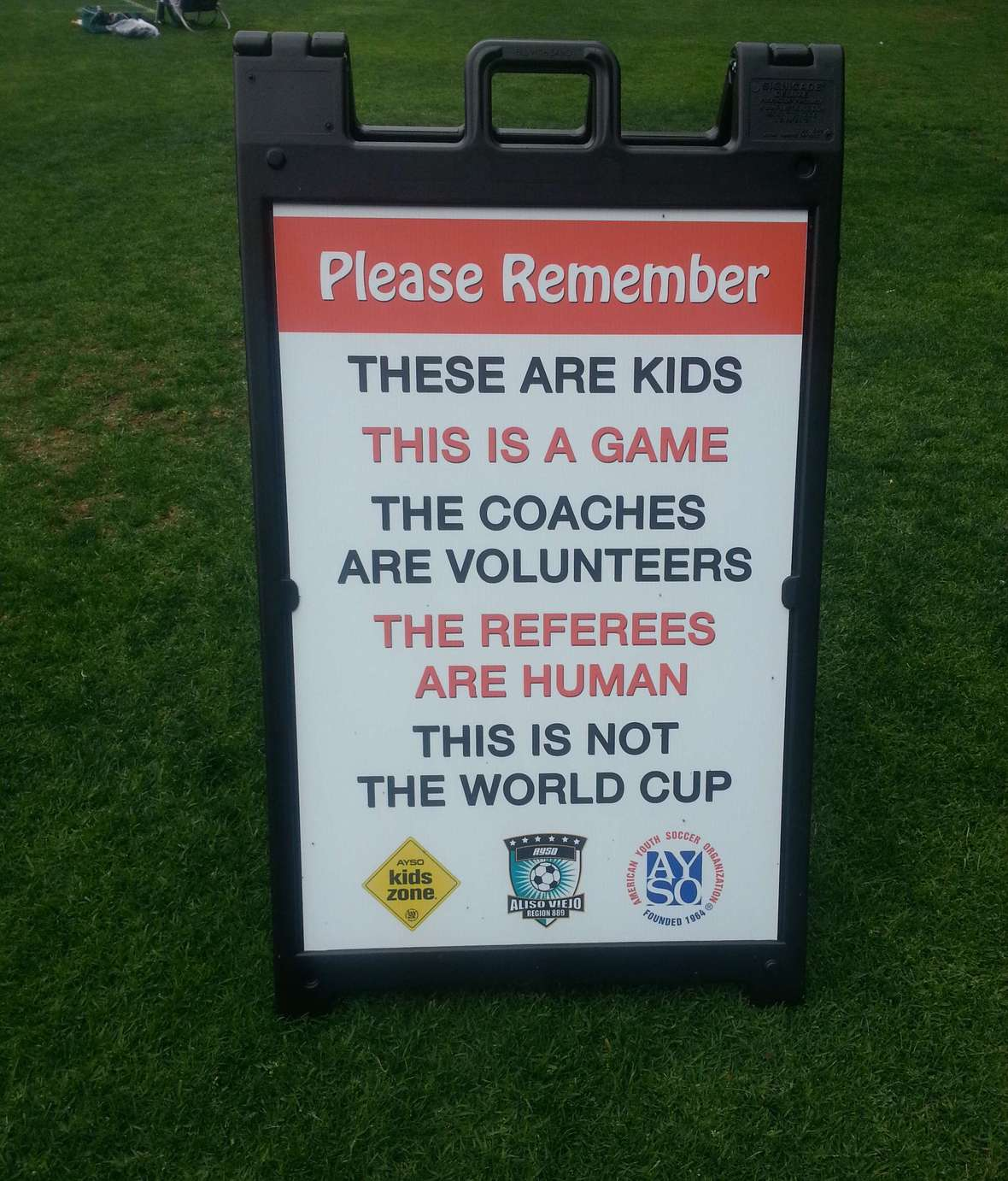 AYSO sign
