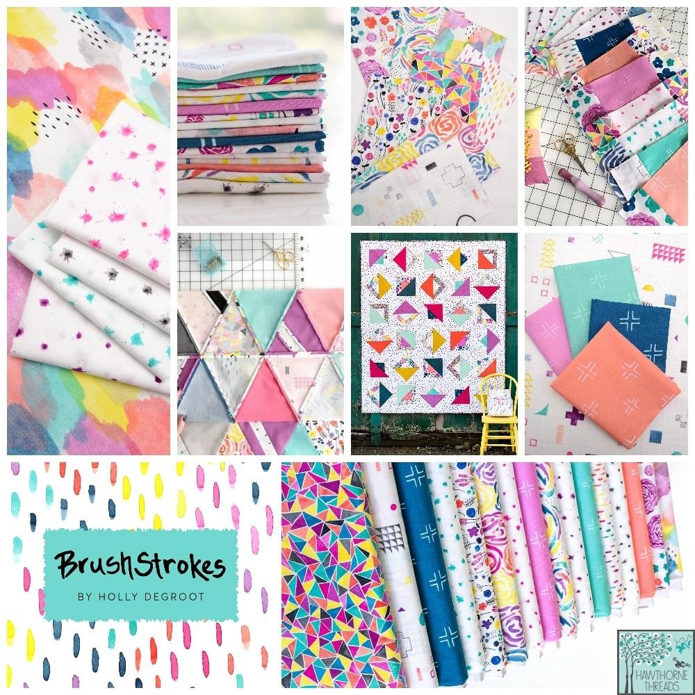 Brush Strokes Fabric Poster