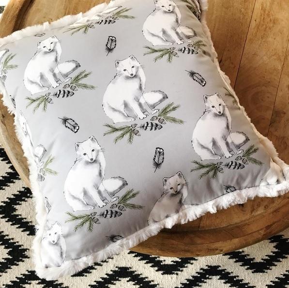 Arctic Fox Tundra Pillow