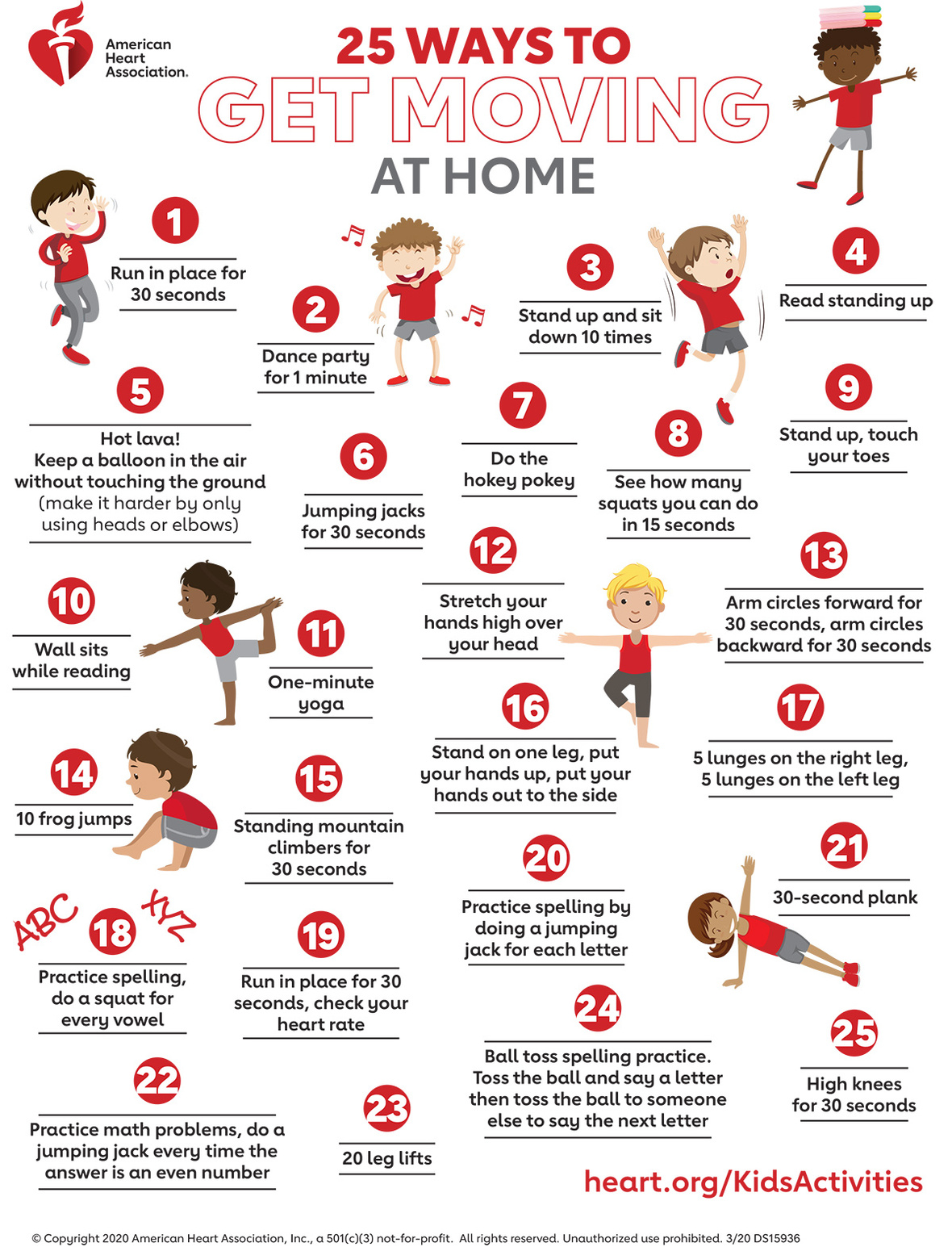 25 Ways to Get Moving at home