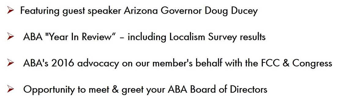 ABA Board & Annual Business Meeting @ Univision Studios | Phoenix | Arizona | United States