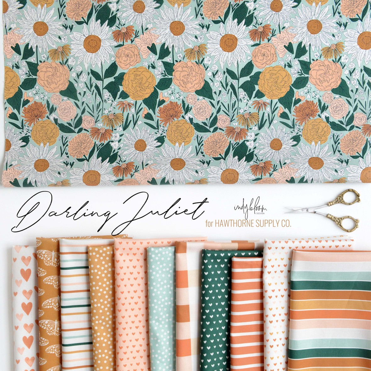 Darling Juliet Indy Bloom for Hawthorne Supply Co. Fabric