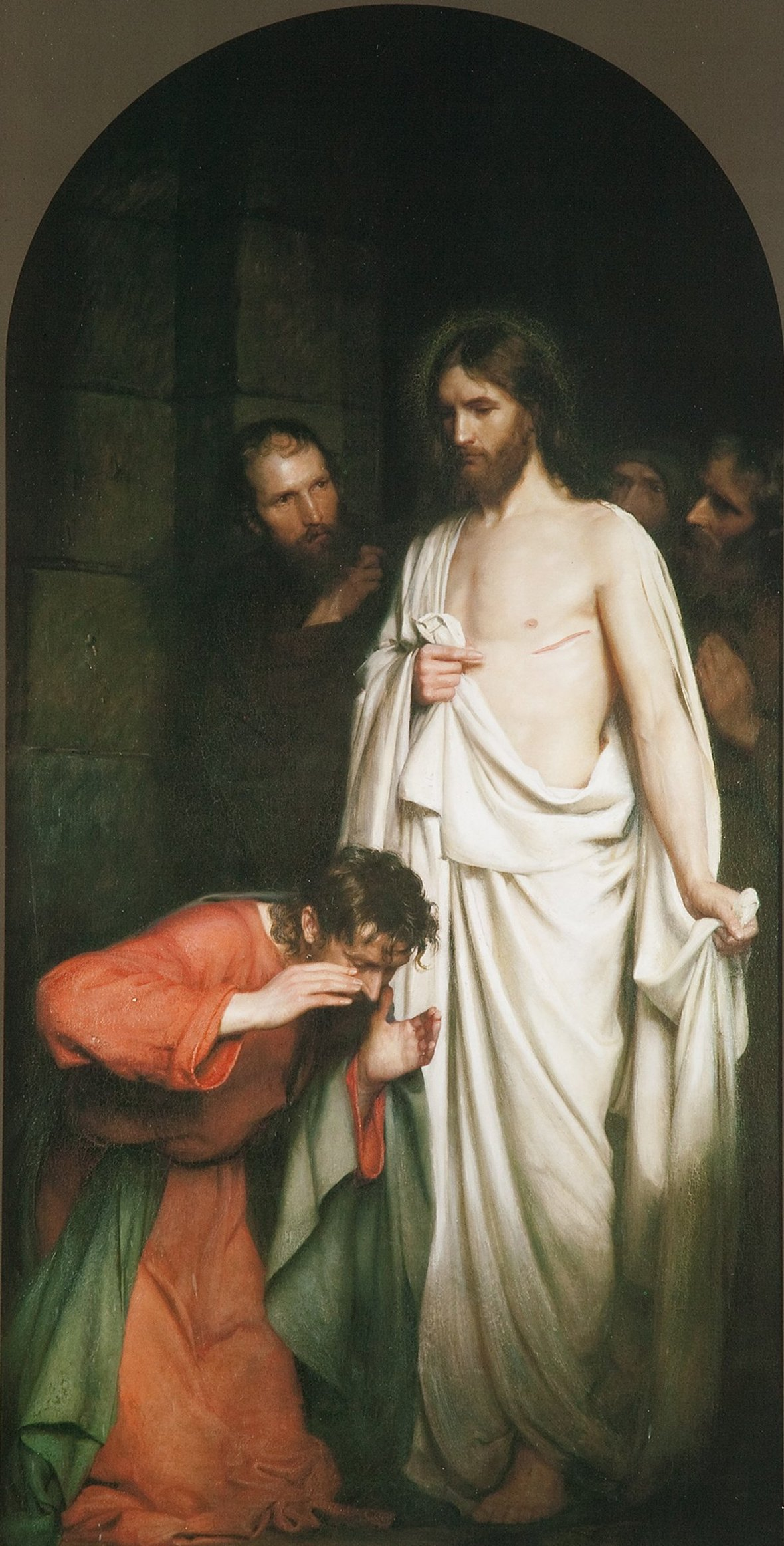 The Doubting Thomas by Carl Heinrich Bloch Ugerlse Kirke