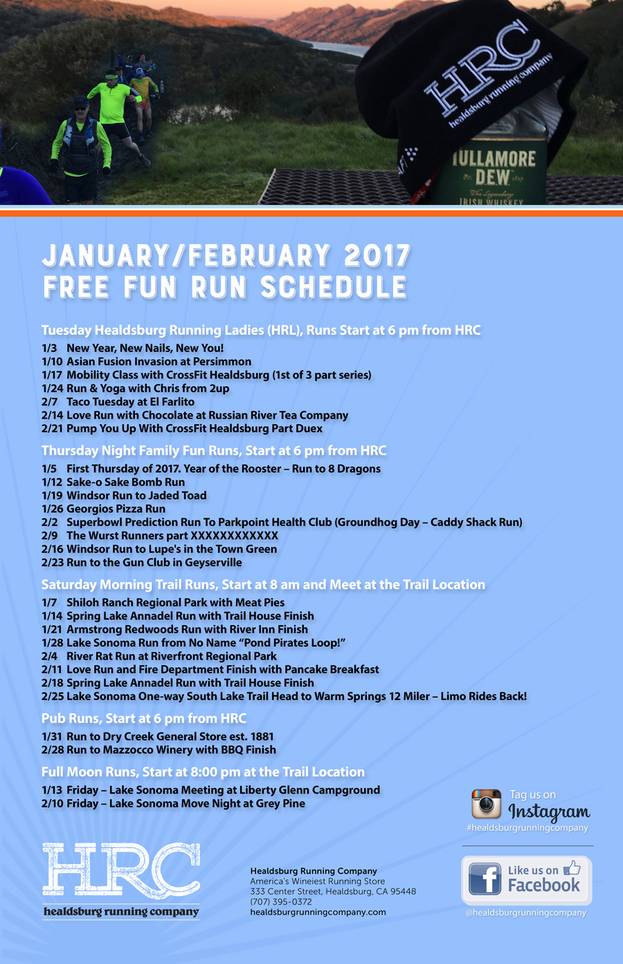 jan feb run schedule 2017