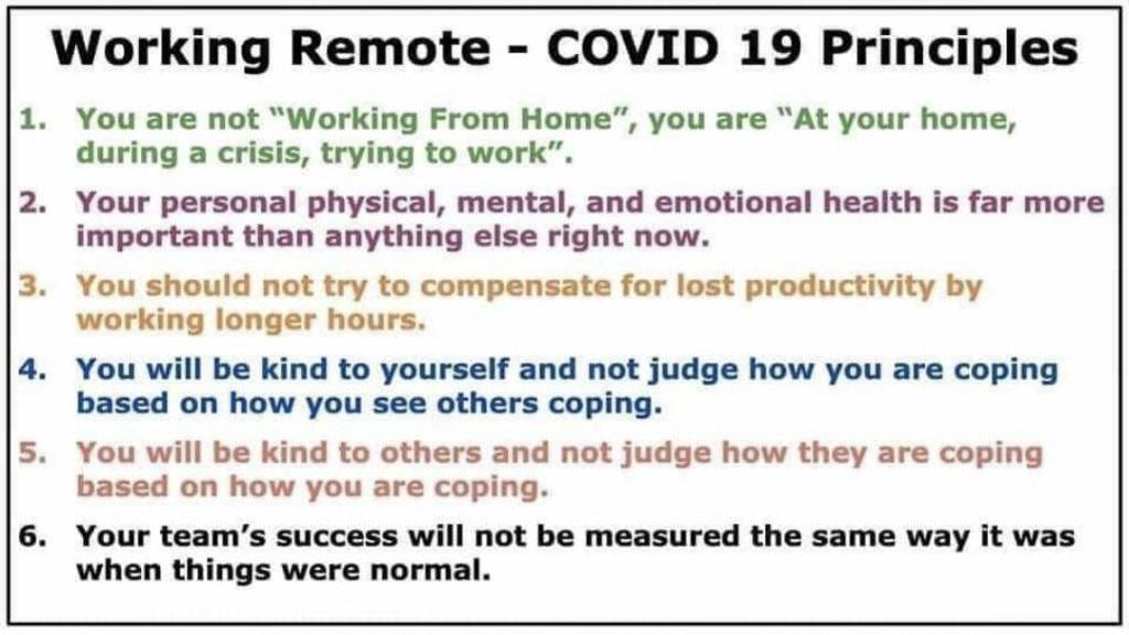 COVID 19 Work Principles