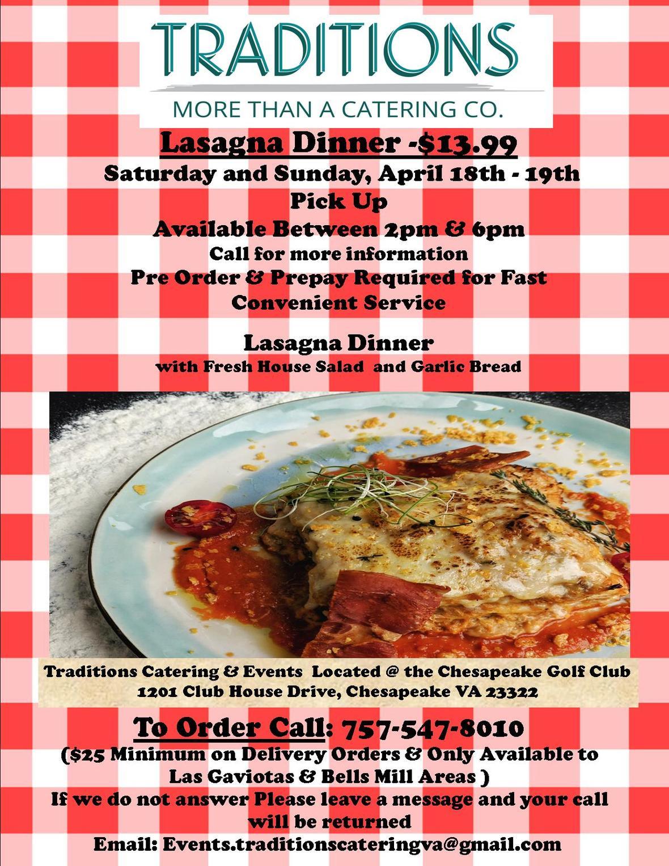Lasagna Dinner 4-18