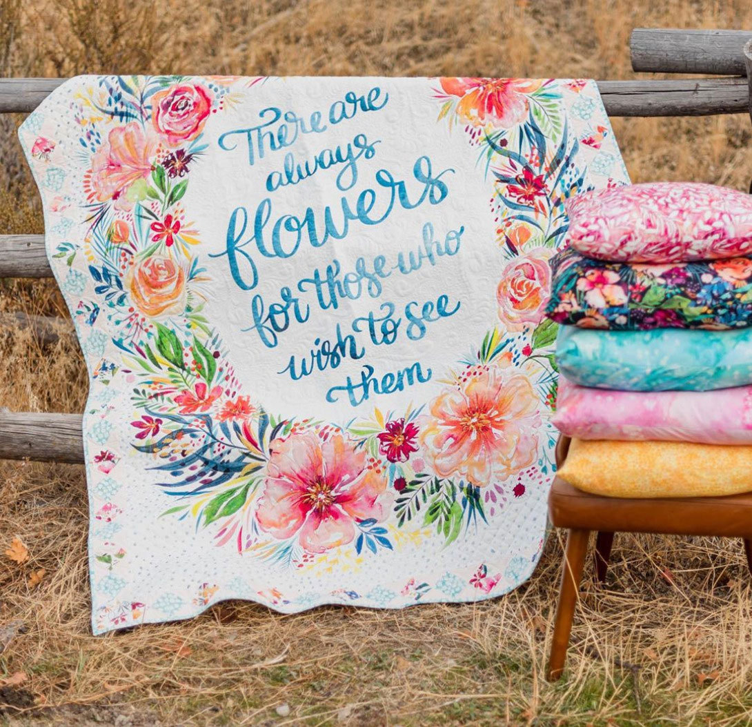 Brightly-Blooming-Quilt-Panel-watercolor-Moda-fabric-at-Hawthorne-Supply-Co