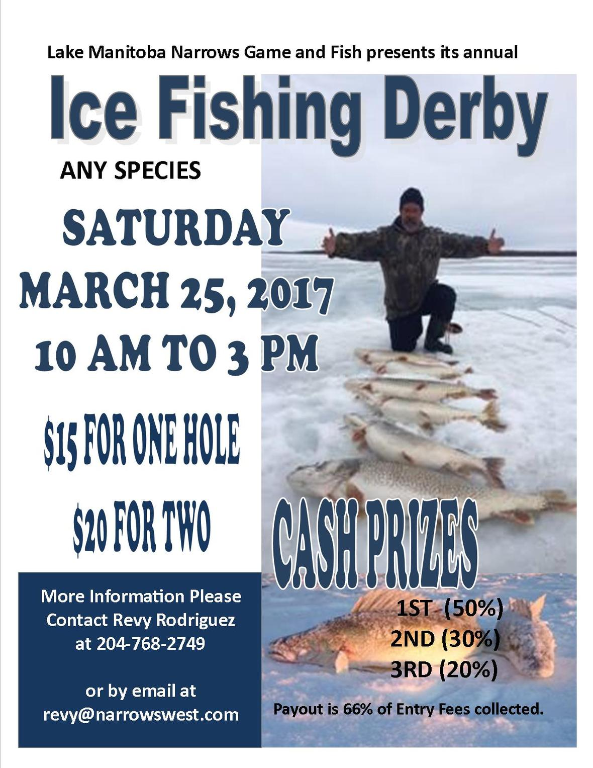 March 25 2017 Ice Fishing Derby