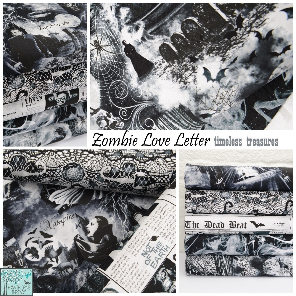Zombie Love Letter Fabric Poster 2