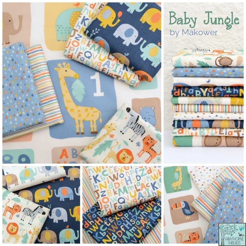 Makower Baby Jungle Fabric