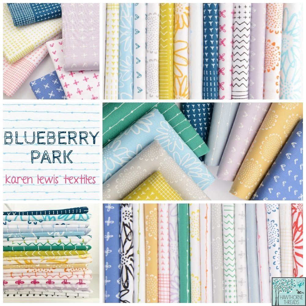 Blueberry Park Fabric Poster