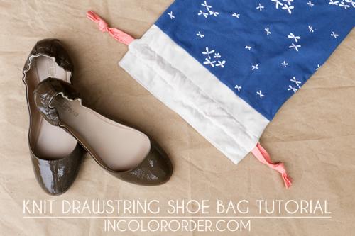 In color order blog- shoe bag tutorial