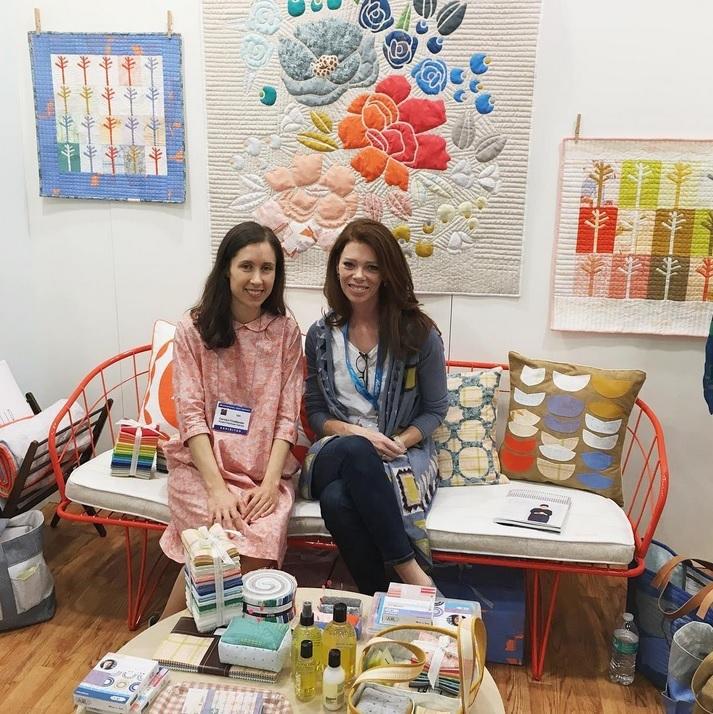 Carolyn and Lindsay at Quiltmarket